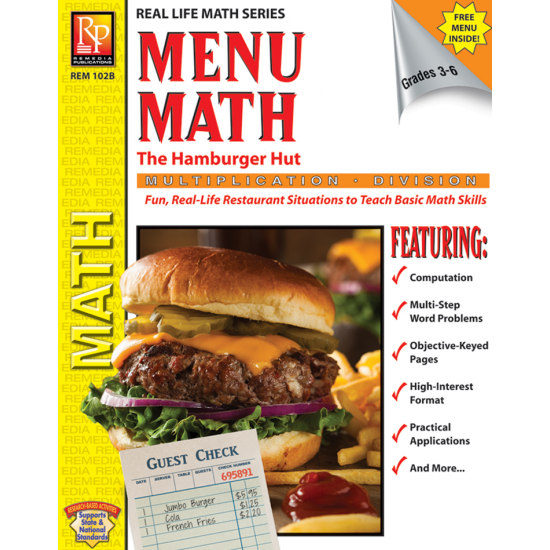 Menu Math: The Hamburger Hut x, ÷ (eBook)