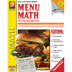Menu Math: The Hamburger Hut x, ÷ (Enhanced eBook)