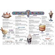 Old-Fashioned Ice Cream Parlor (Menu Only)