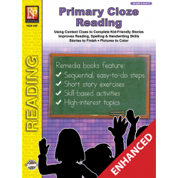 Primary Cloze Reading - Grade 2 (Enhanced eBook)