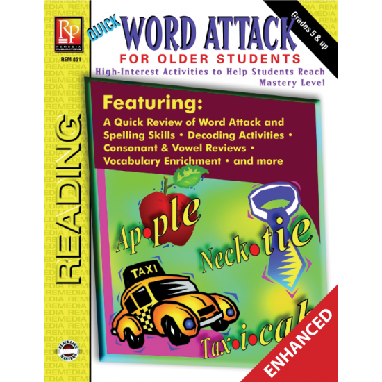 Word Attack Phonics & Decoding for Older Students (Enhanced eBook)