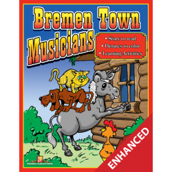 Bremen Town Musicians: Read & Color (Enhanced eBook)