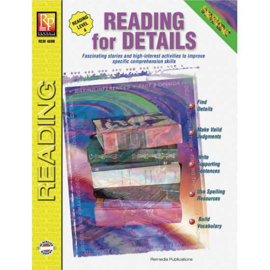 Specific Skills Series: Reading for Details - Reading Level 4 (eBook)
