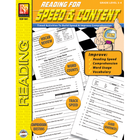 Reading for Speed & Content - Grades 3-4 (eBook)