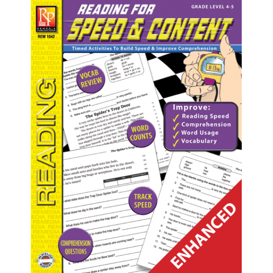 Reading for Speed & Content - Grades 4-5 (Enhanced eBook)