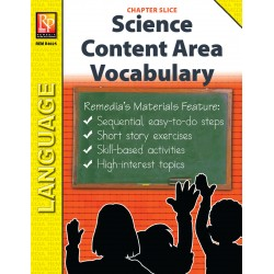 Science: Content Area Vocabulary (Chapter Slice)