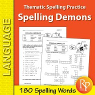 Thematic Spelling Practice: Spelling Demons (eBook)