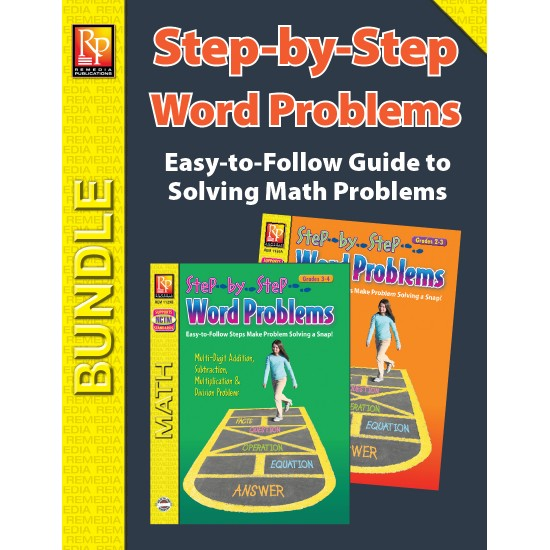 Step-by-Step Word Problems (Bundle)