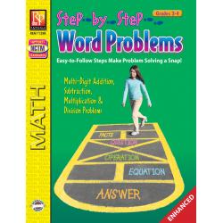 Step-by-Step Word Problems - Grades 3-4 (Enhanced eBook)