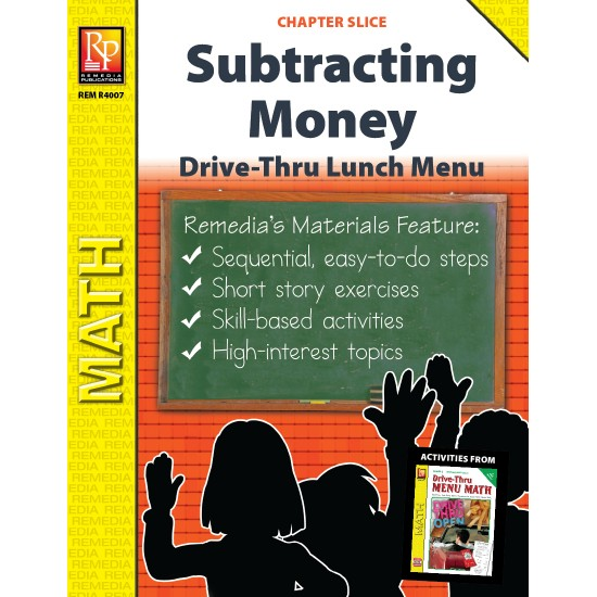 Subtracting Money: Drive-Thru Lunch Menu (Chapter Slice)