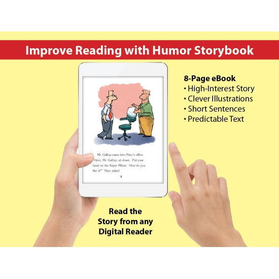 Super Pillow: Improve Reading with Humor Storybook & Read-Along Audio