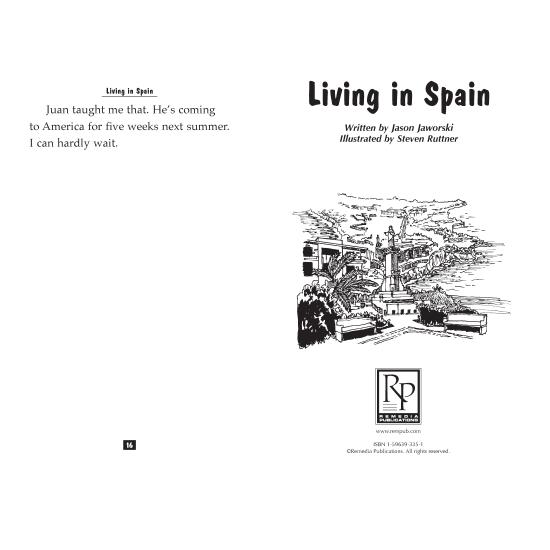 Teen Reader Storybook: Living in Spain (Reading Level 1.7)