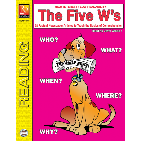 The Five W's - Reading Level 1 (eBook)