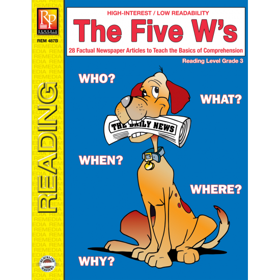 The Five W's - Reading Level 3 (eBook)