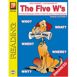 The Five W's - Reading Level 3 (Enhanced eBook)