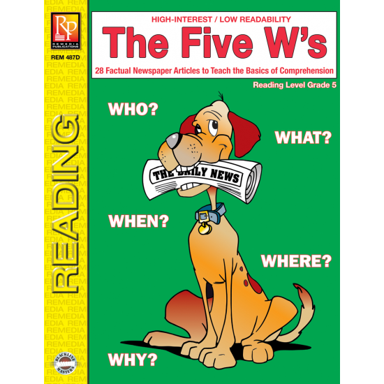 The Five W's - Reading Level 5 (eBook)