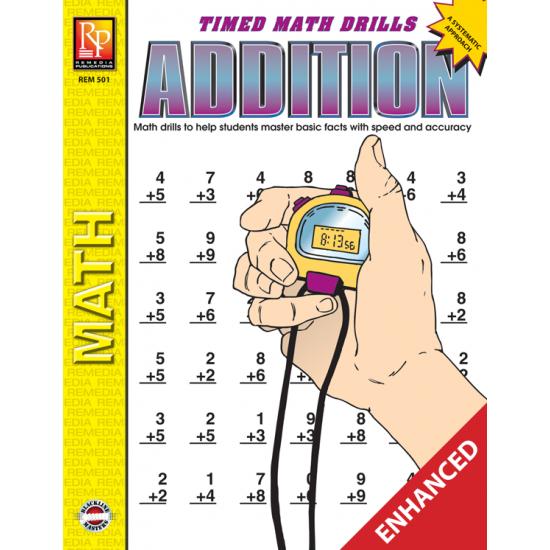 Addition: Timed Math Drills (Enhanced eBook)