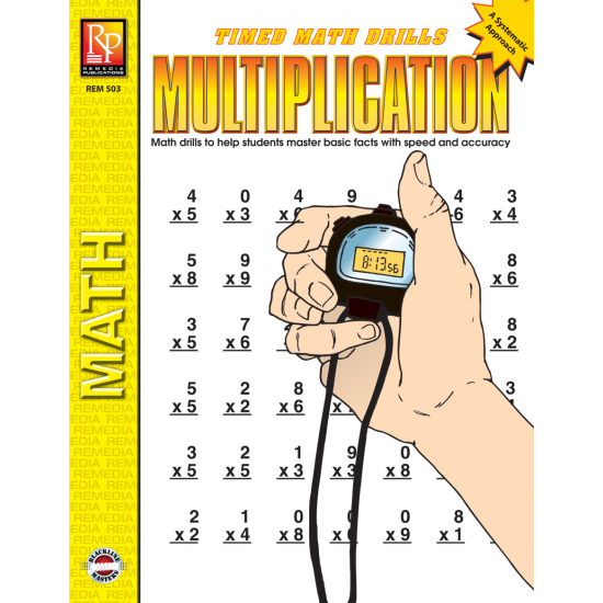 Multiplication: Timed Math Drills (eBook)