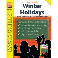 Winter Holiday Crossword Puzzles & Word Searches (Chapter Slice)