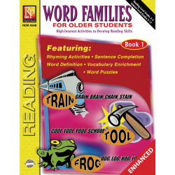 Word Families for Older Students - Book 1 (Enhanced eBook)