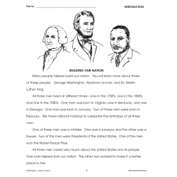 Washington, Lincoln, & Martin Luther King Unit for All Subjects - Grades 2-3 (eBook)