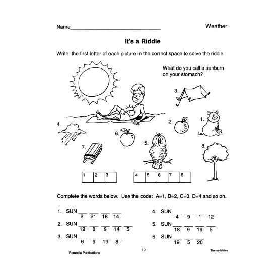 Weather: Skill-Based Activities for Grades 3-4 (eBook)