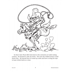 Pecos Bill: Read & Color (Enhanced eBook)