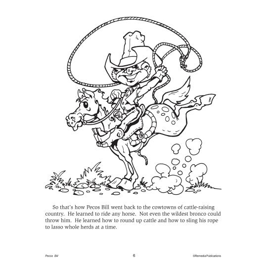Pecos Bill Read Color Ebook