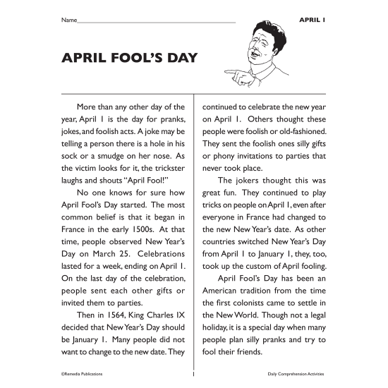 Daily Comprehension: Spring (Bundle)