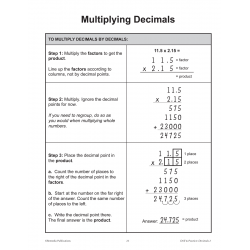 Decimals: Drill & Practice for Grades 4 to 6 (Enhanced eBook)