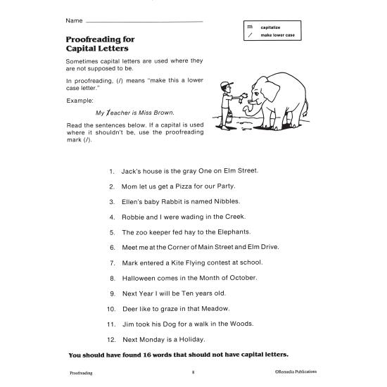Proofreading - Grades 5-8 (eBook)