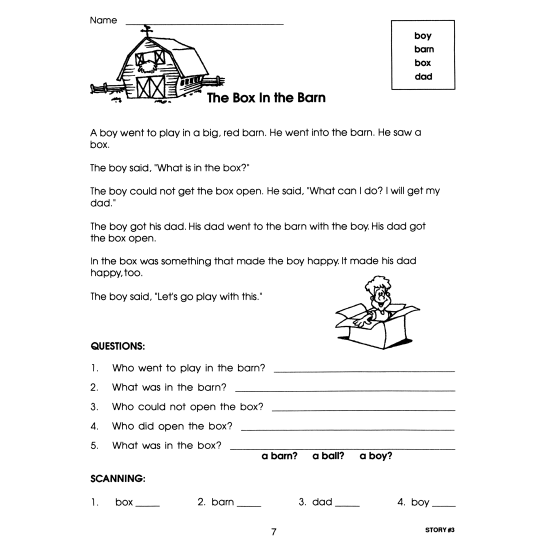 Sight Word Stories & Seatwork Activities - Book 1 (eBook)