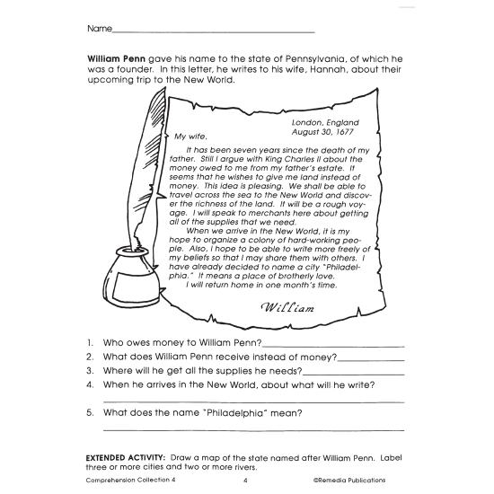 Comprehension Collection - Grade 4 (eBook)