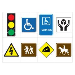 Survival Signs & Symbols Flash Cards (Enhanced)