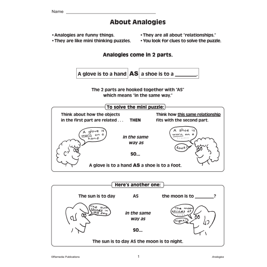 Critical Thinking Skills: Analogies (eBook)