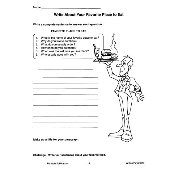 Writing Basics Series: Writing Paragraphs (eBook)