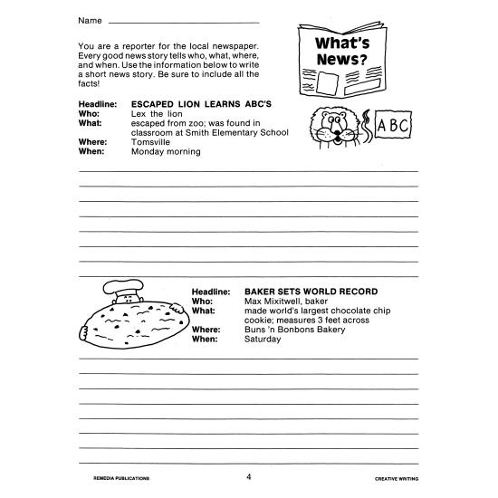 Creative Writing Prompts (eBook)