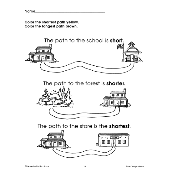 Size Comparisons: Beginning Thinking Skills (eBook)