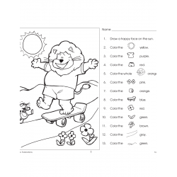 Following Directions: Read & Color (Enhanced eBook)