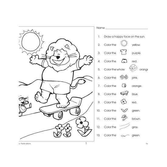 Following Directions: Read & Color (eBook)