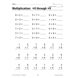 Multiplication: Easy Timed Math Drills (Enhanced eBook)