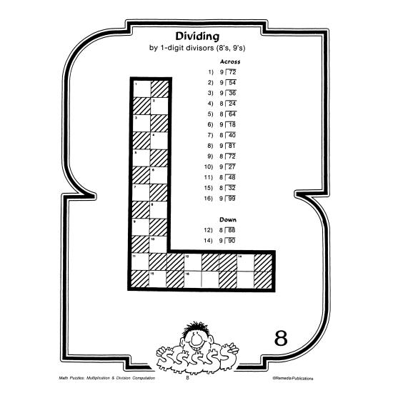 Math Puzzles: Multiplication & Division Computation (eBook)