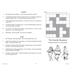 Math Puzzles: Addition & Subtraction Word Problems (Enhanced eBook)