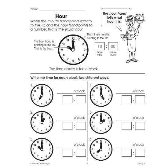 Clocks: Beginning Time Concepts (Enhanced eBook)