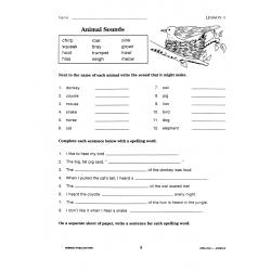 Thematic Spelling Practice: Animals (eBook)