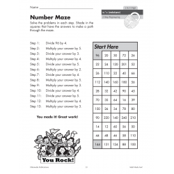 Self-Checking Activities for Multiplication & Division (Chapter Slice)