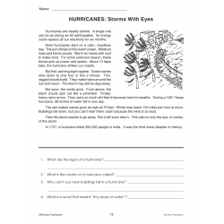 Reading About Hurricanes & Floods (Chapter Slice)