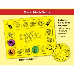 Menu Math: Real-Life Word Problems & Game