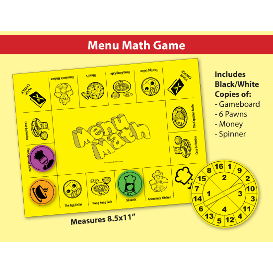 Menu Math: Real-Life Word Problems & Game
