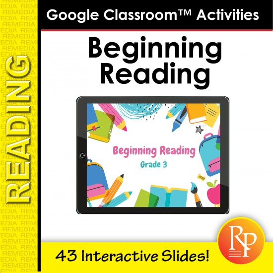 Google Classroom™ Activities: Beginning Reading Passages for Reading Level 3
